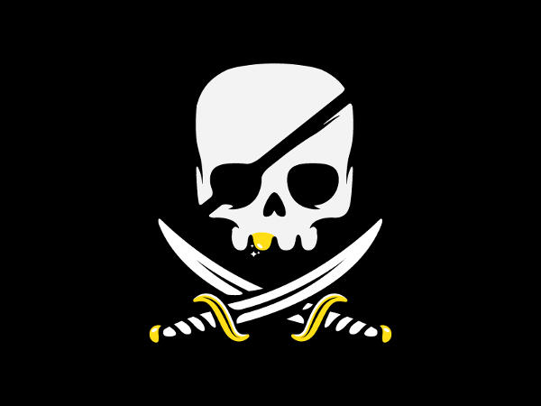 Pirate Skull Logo Design