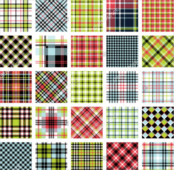 Plaid Pattern Design Set