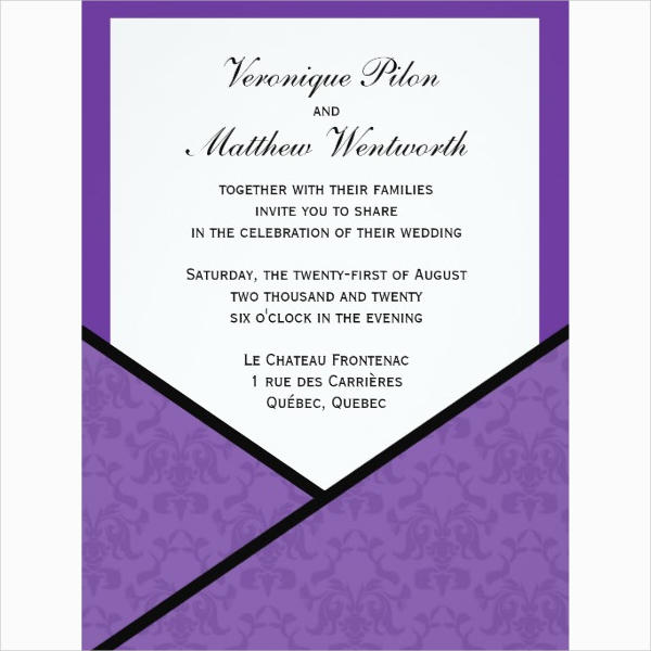 Pocket Style Invitation