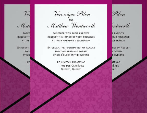 Pocket Style Wedding Invitation