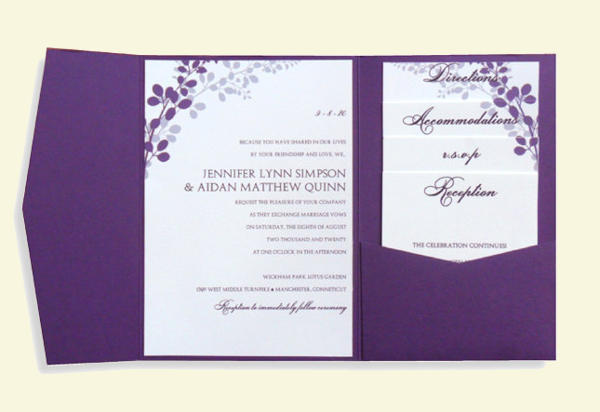 Pocket Wedding Invitation Template