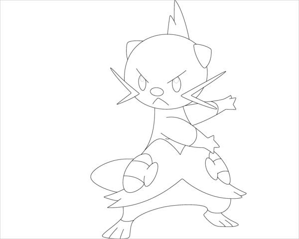 Pokemon Black and White Coloring Page