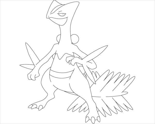 Pokemon Dragon Coloring Page