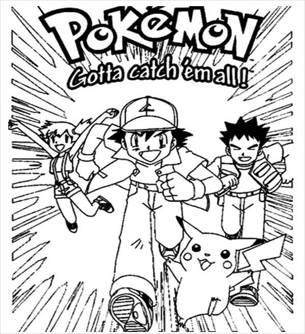 Pokemon Poster Coloring Page