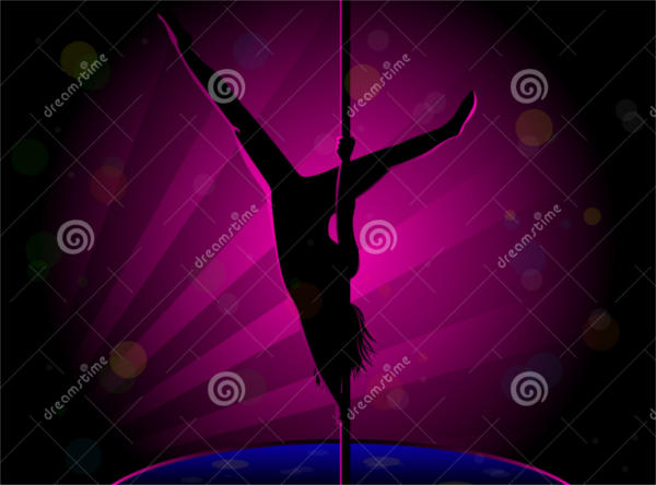 Pole Dancer Silhouette