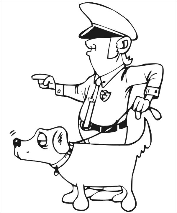 Police Dog Coloring Page