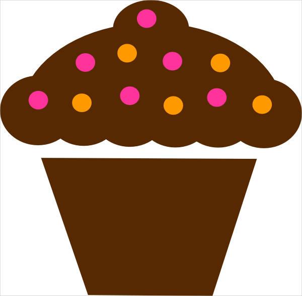Polka Dot Cupcake Clipart