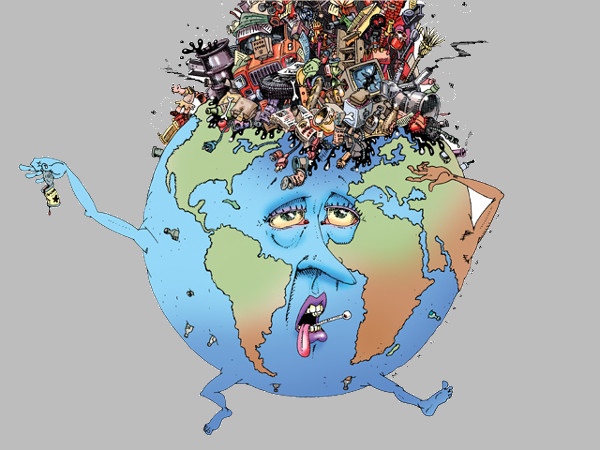 Polluted Earth Clipart