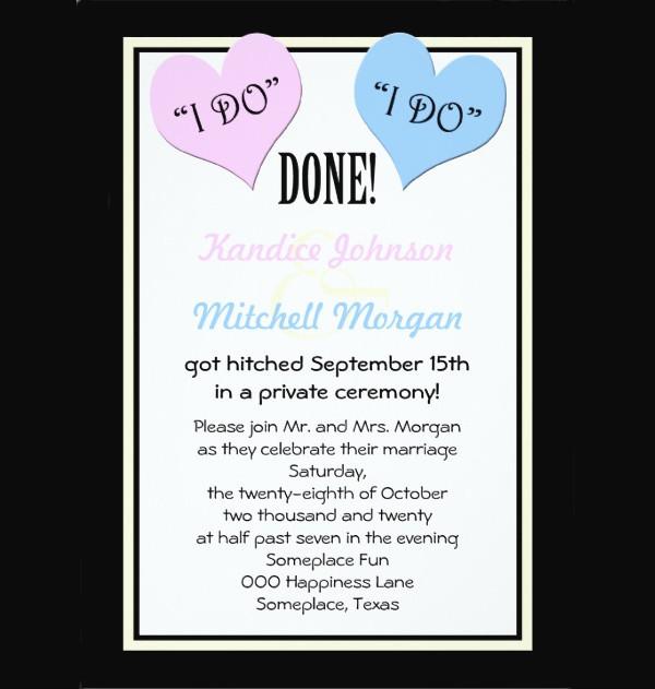 Post Wedding Reception Invitation