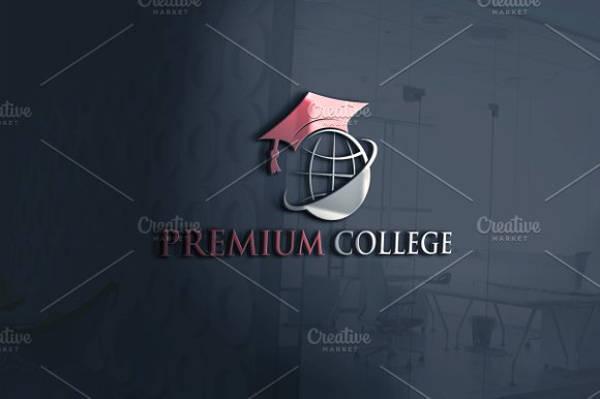 Premium College Vector Logo