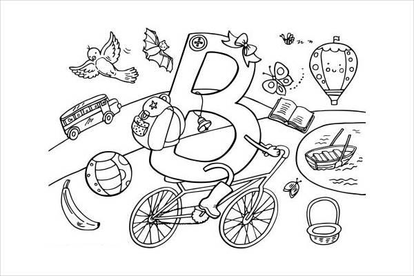 Preschool Alphabet Coloring Page