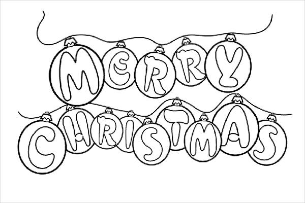Preschool Christmas Coloring Page