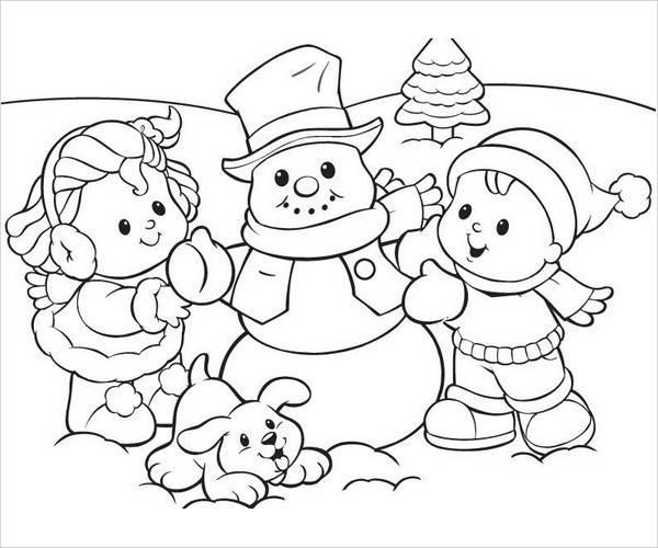 Preschool Snowflake Coloring Page