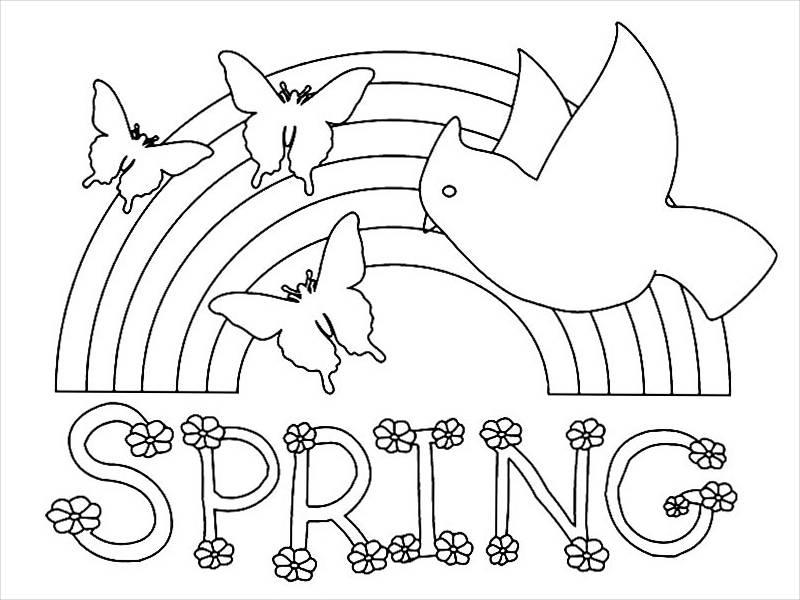 Preschool Spring Coloring Page