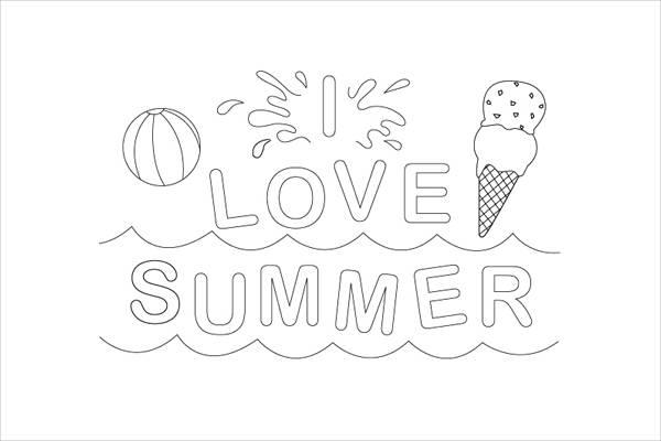 Preschool Summer Coloring Page