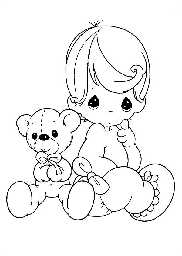 Preschool Teddy Bear Coloring Page