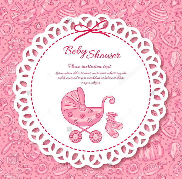Influential image in free printable baby shower card