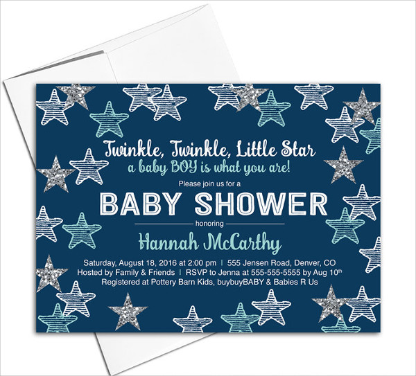 Printable Baby Shower Invitation for Boys