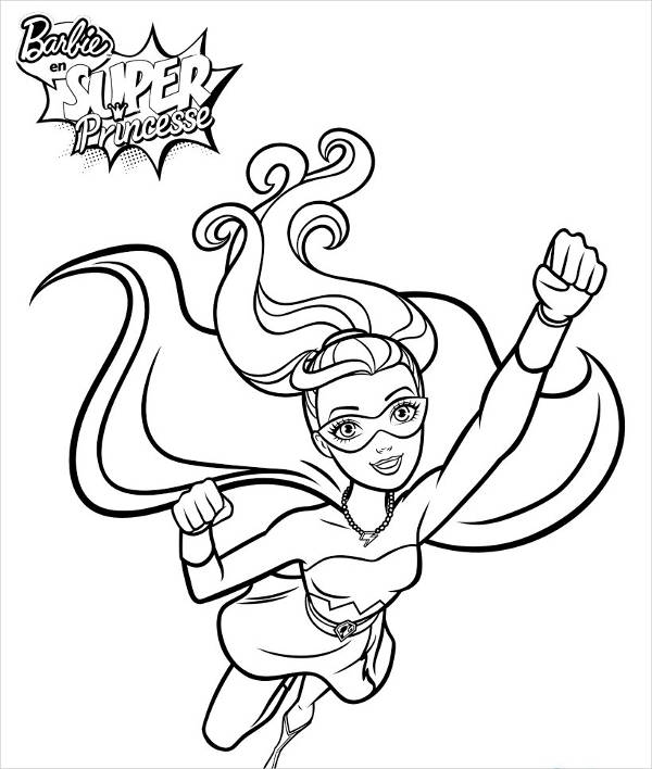 Printable Barbie Coloring Page