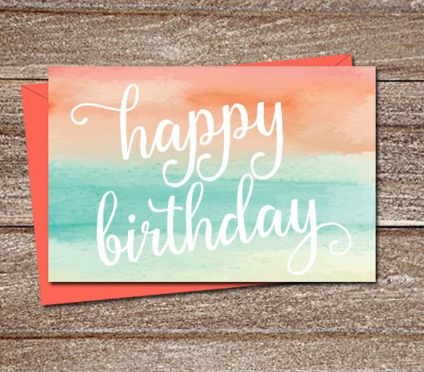 Printable Birthday Ecard