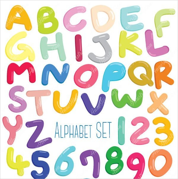 photograph relating to Bubble Letter Alphabet Printable named 9+ Bubble Letter Alphabets - JPG Down load