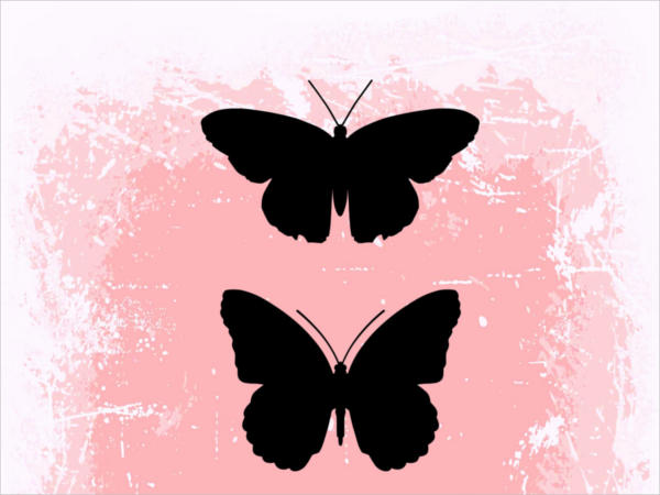 Printable Butterfly Silhouette