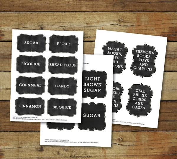 printable chalkboard tag design