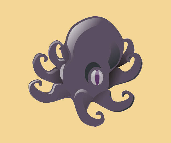 Printable Clipart of Octopus