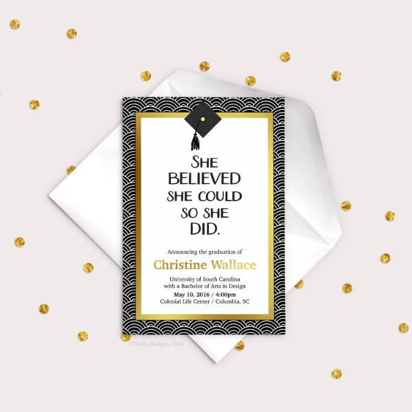 Printable College Graduation Invitation