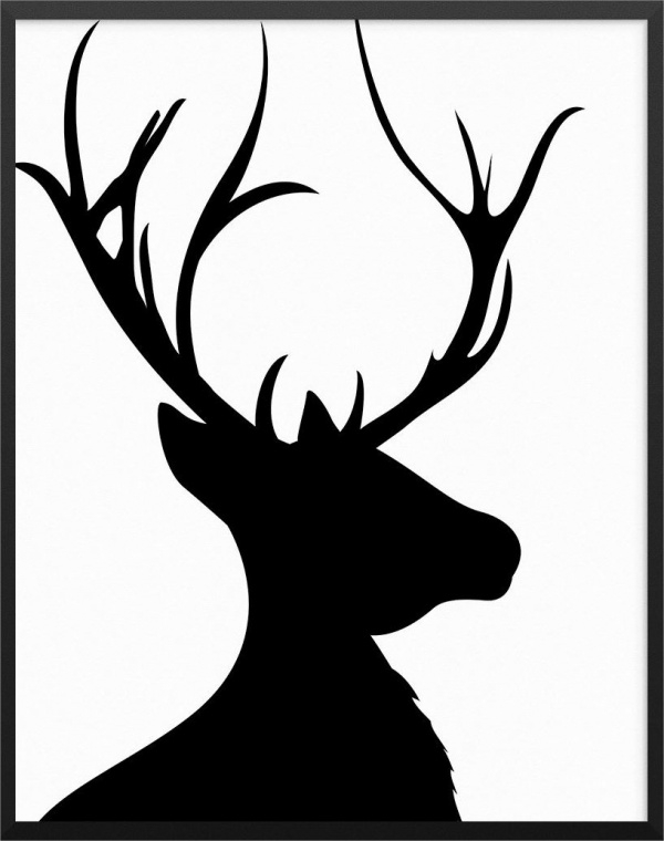 photograph regarding Printable Deer Head Silhouette titled 9+ Deer Intellect Silhouettes - JPG, Vector EPS, Ai Illustrator