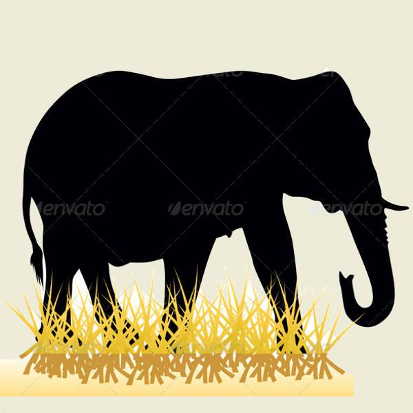 Printable Elephant Silhouette
