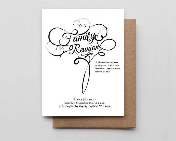 Family Reunion Invitations  Jpg Vector Eps Ai Illustrator