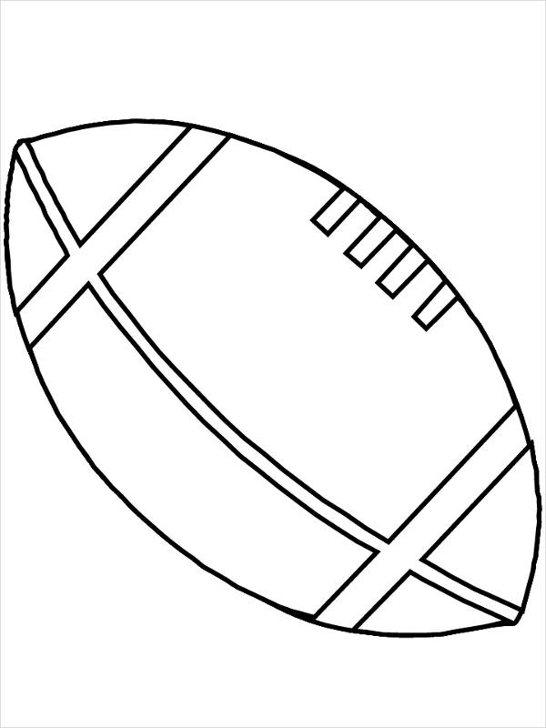 Printable Football Coloring Page