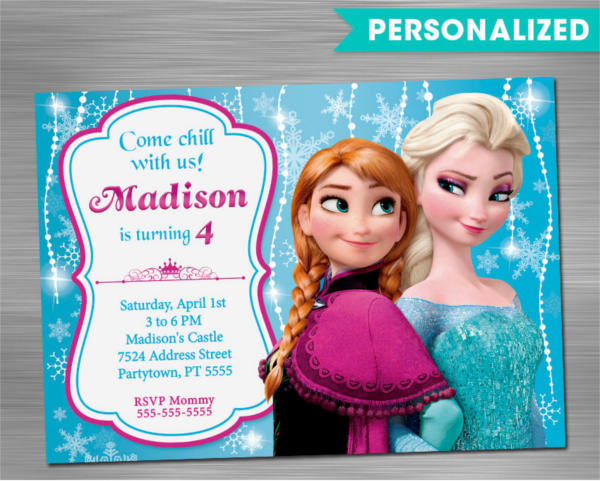photograph relating to Frozen Birthday Card Printable titled 10+ Exceptional Frozen Birthday Invites - PSD, AI, Term