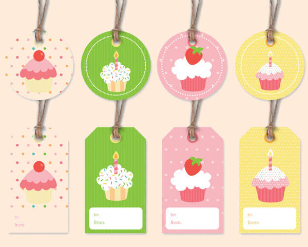 Printable Happy Birthday Gift Tag