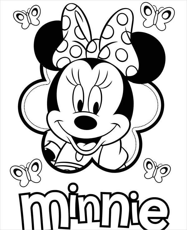 Printable Minnie Mouse Coloring Page