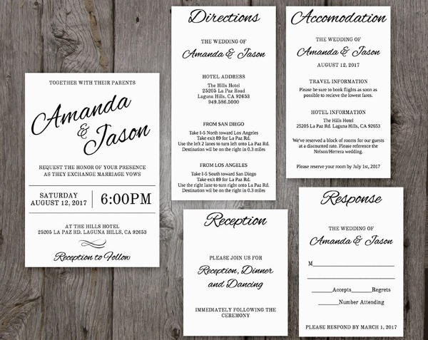 Printable Pocket Wedding Invitation