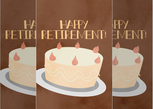 Printable Retirement Greeting Card Design