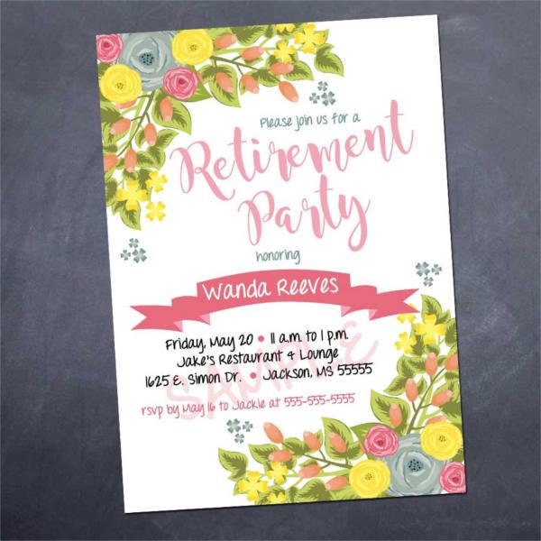 Printable Retirement Party Invitation