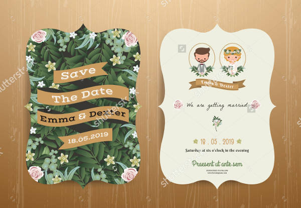 Printable Rustic Wedding Invitation