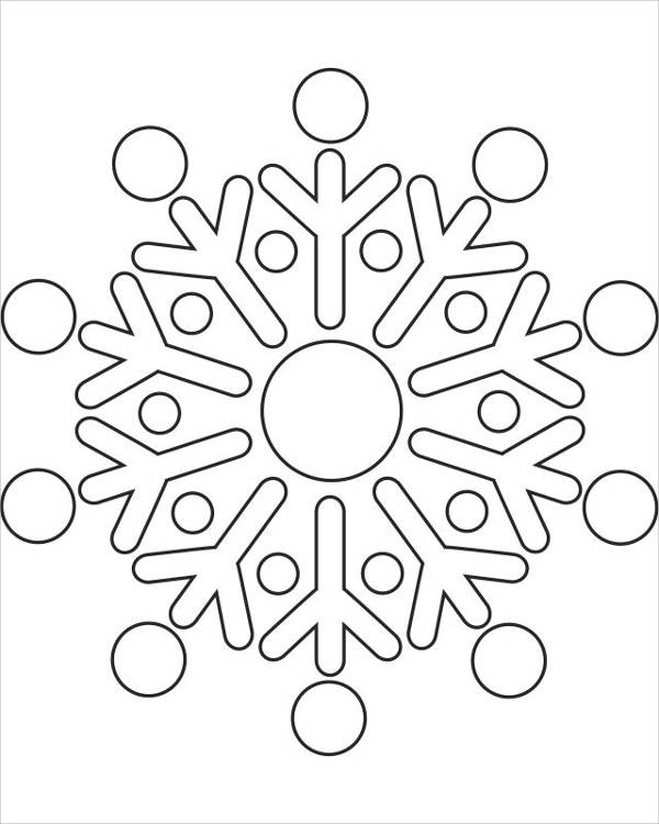 8 Snowflake Coloring Pages  JPG Ai Illustrator Download