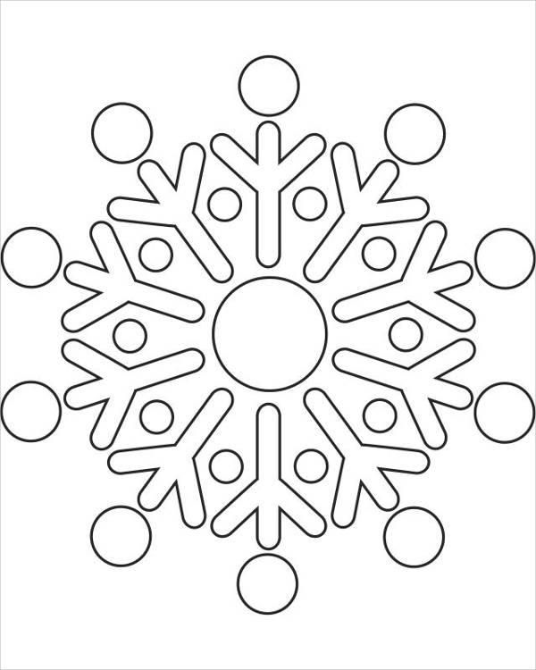 printable snowflake coloring page