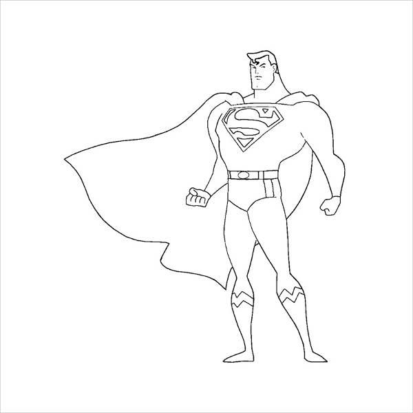 Printable Superman Coloring Page