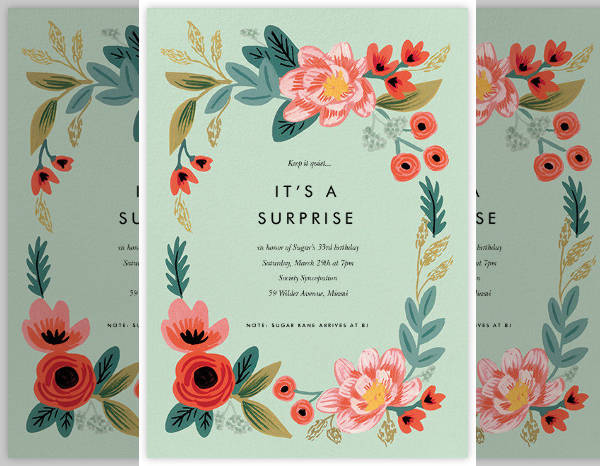 Printable Surprise Party Invitation Design