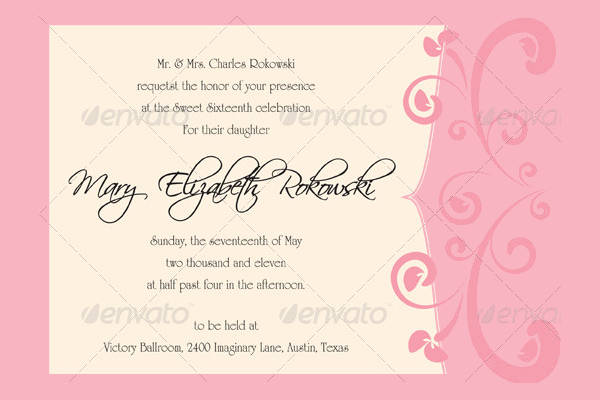 Printable Sweet Sixteen Invitation