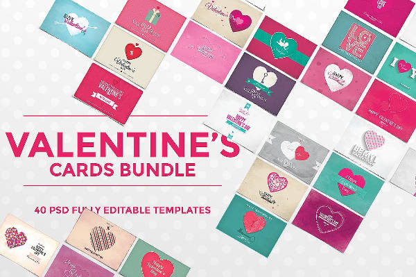 Printable Valentine Card Bundle