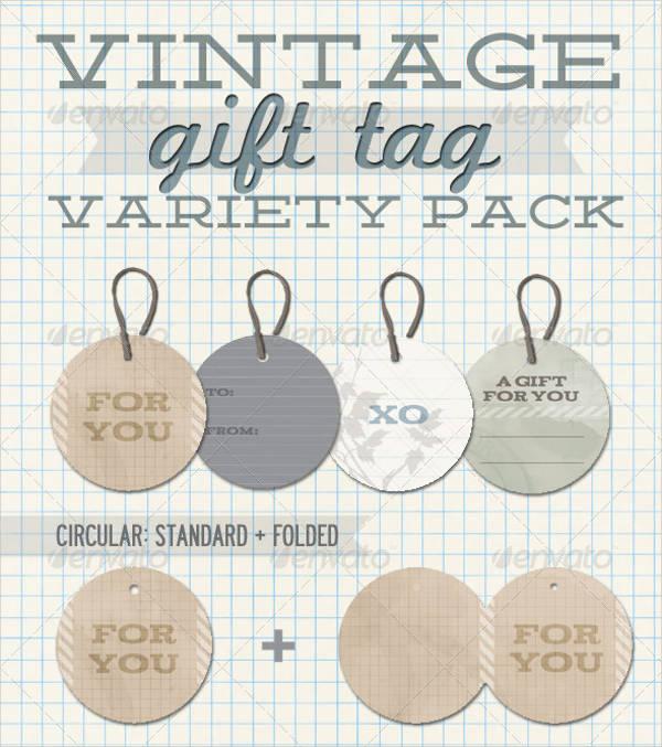 Printable Vintage Gift Tag
