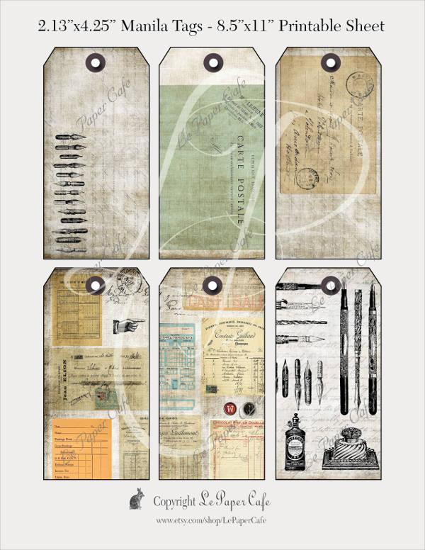 Printable Vintage Tag