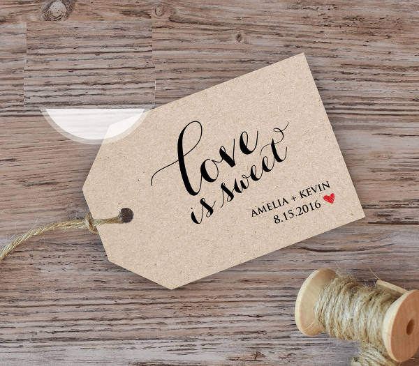 printable wedding favor tag design