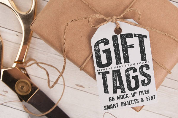 Printable Wrapped Gift Box Tag